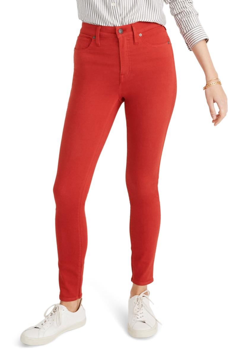 high waisted orange skinny jeans, Nordstrom anniversary sale