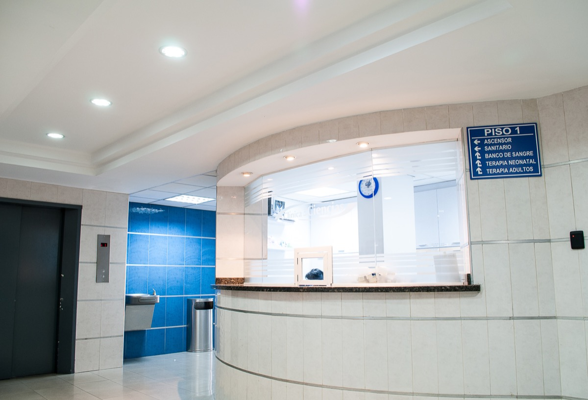 welcome desk at hospital