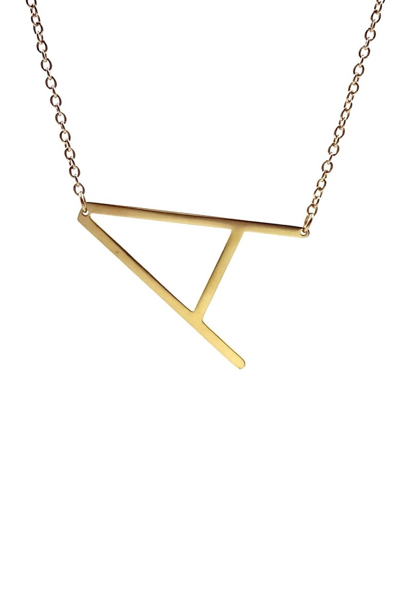 necklace with the letter A on a chain, best gifts for girlfriend
