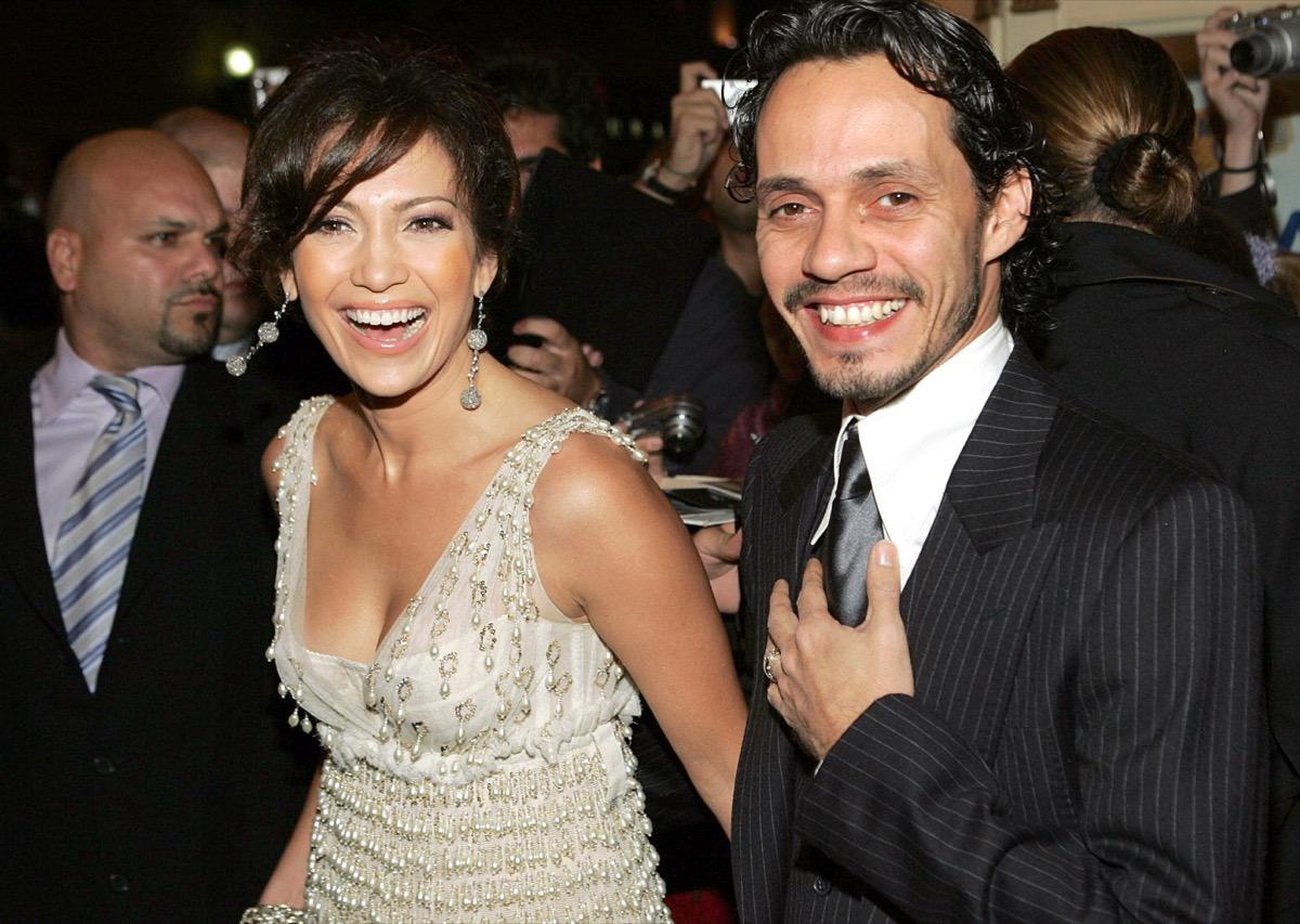 jennifer lopez and marc anthony, celebrity exes