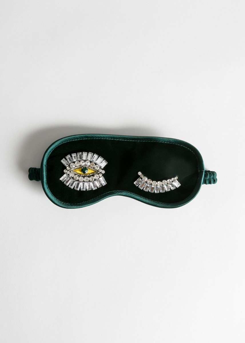 green velvet eye mask with jewels, best gifts for girlfriend