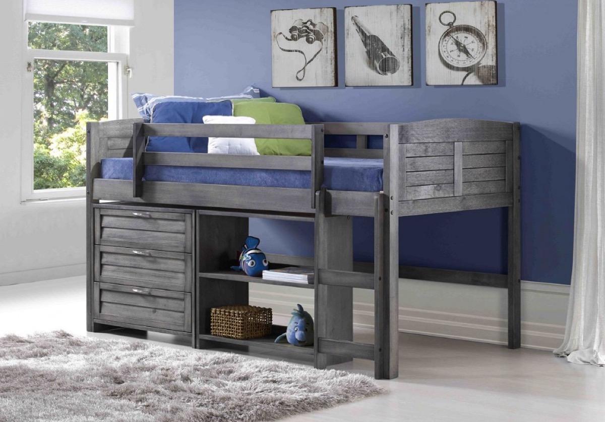 Kids' Loft Bed Storage Furniture