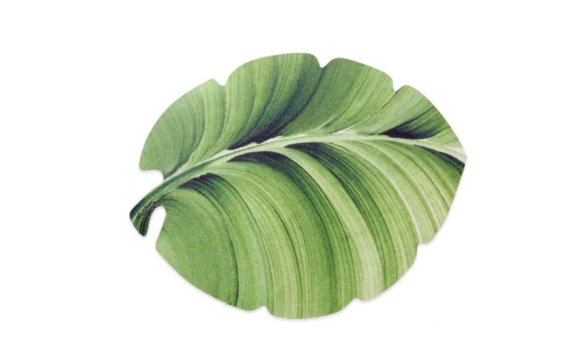vinyl leaf placemat, picnic essentials