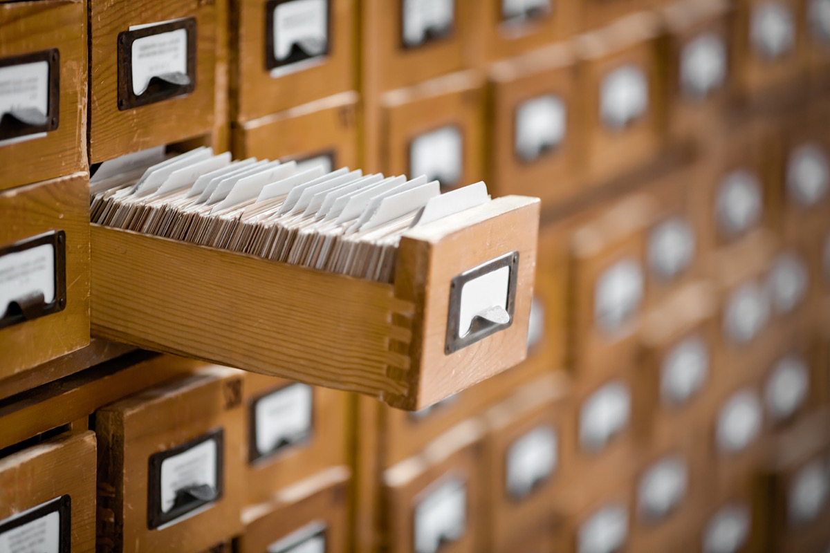 Library Card Catalog Old Classroom Objects
