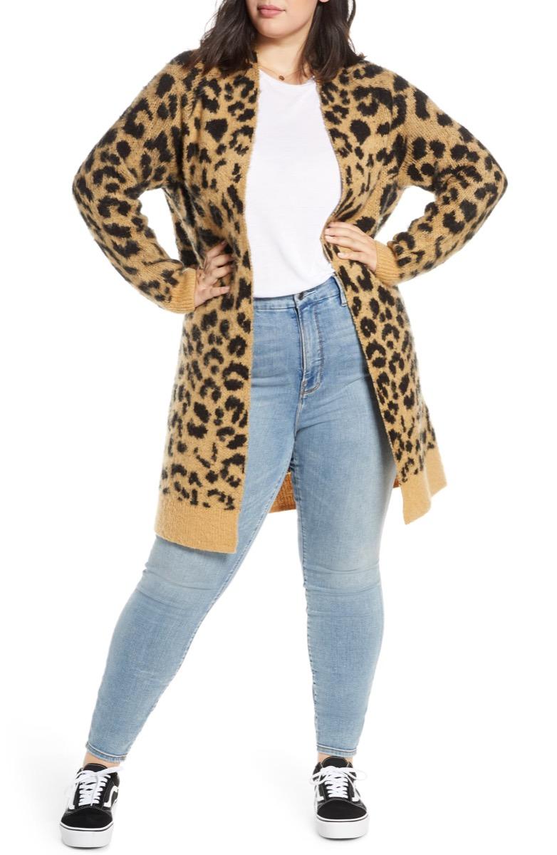 leopard-print cardigan, Nordstrom anniversary sale