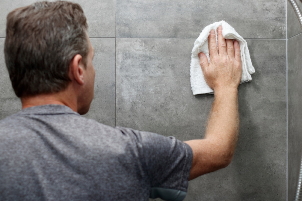 mean wiping down shower with rag, how often you should replace your cleaning supplies