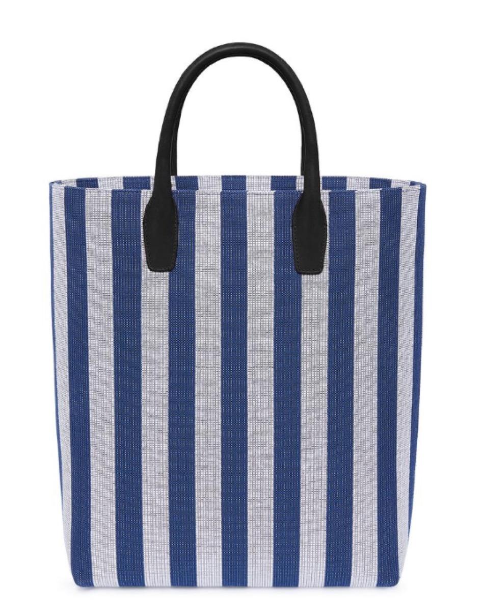 striped beach bag, luxury beach bags