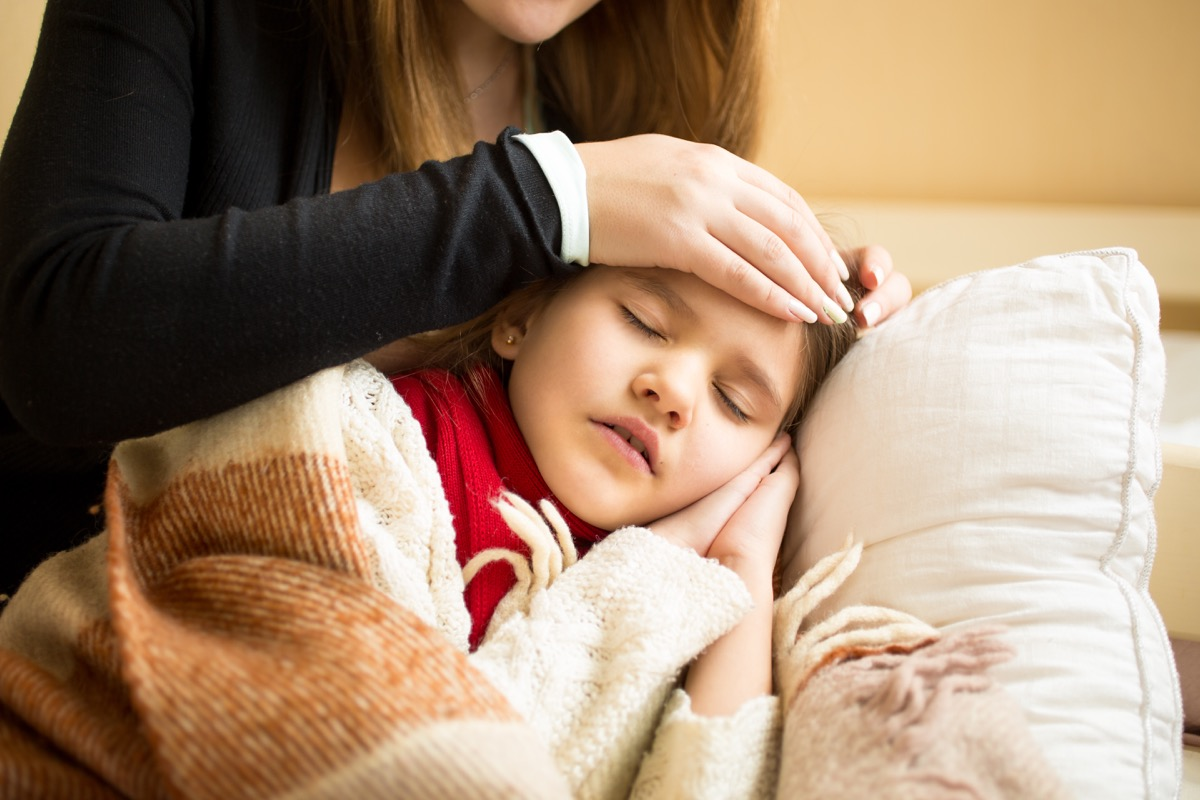 kid with meningitis, classroom germs