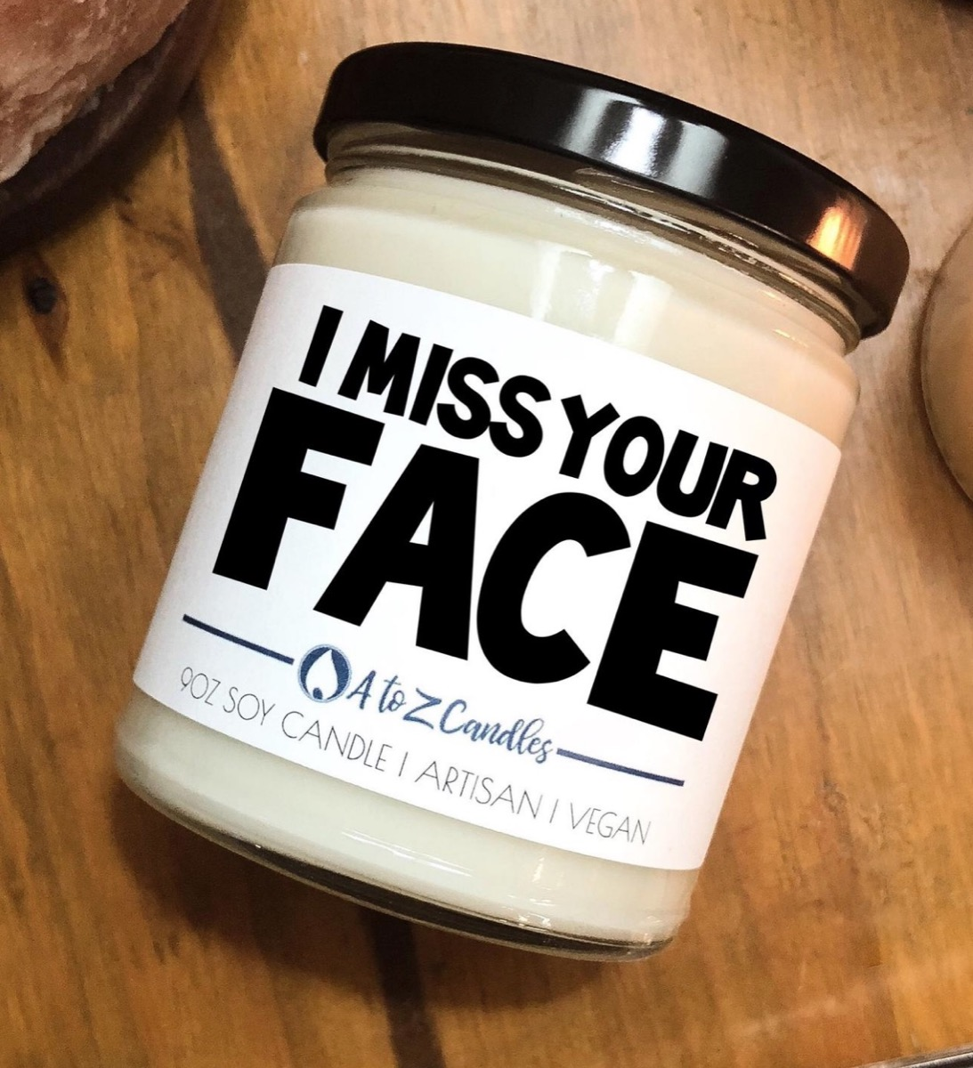 i miss your face soy candle, best friend gifts