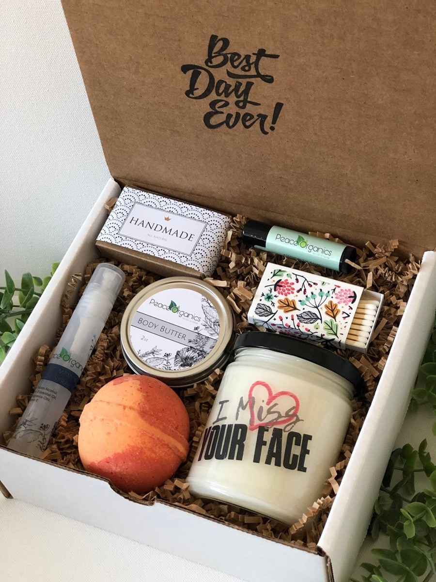 personalized spa box, best friend gifts