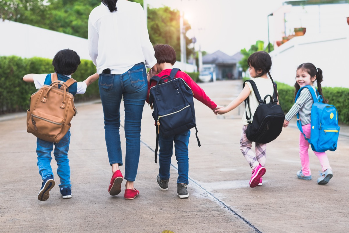mom taking kids back to school, back to school mistakes