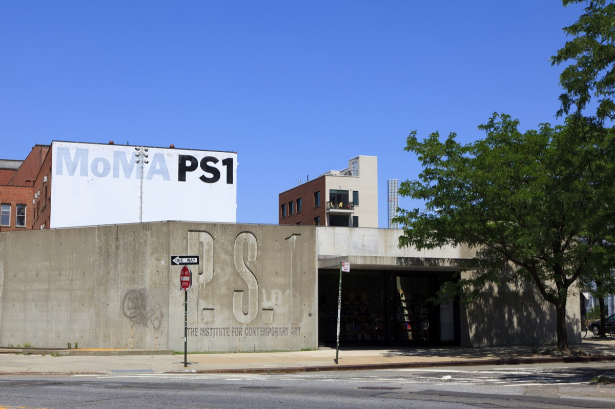 View of the exterior of the P.S.1 in Queens