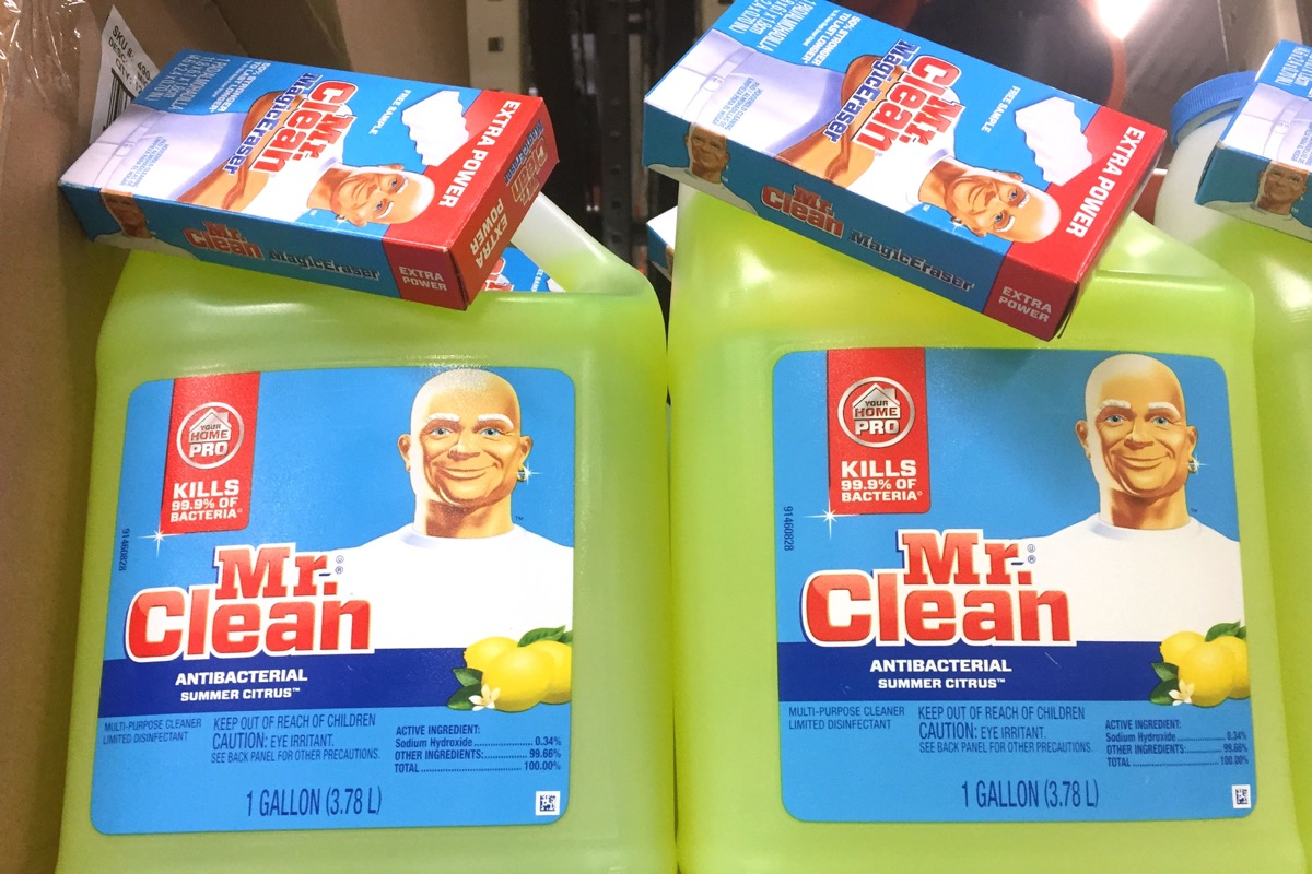 mr clean products, fictional character real names