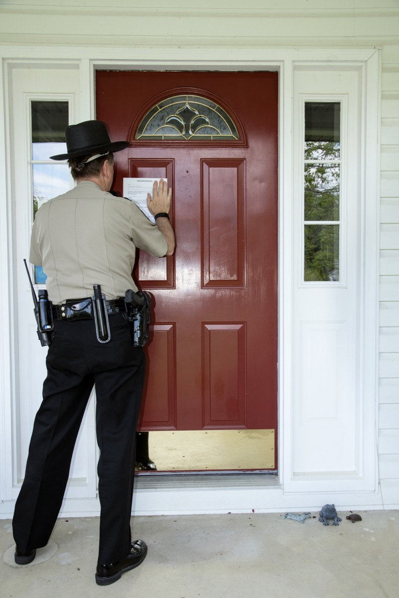 Officer with a Search Warrant Police Officer Secerts