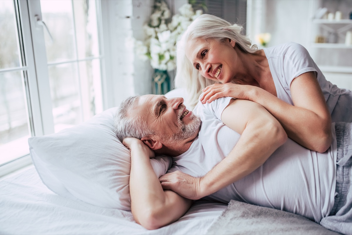 old couple in bed together
