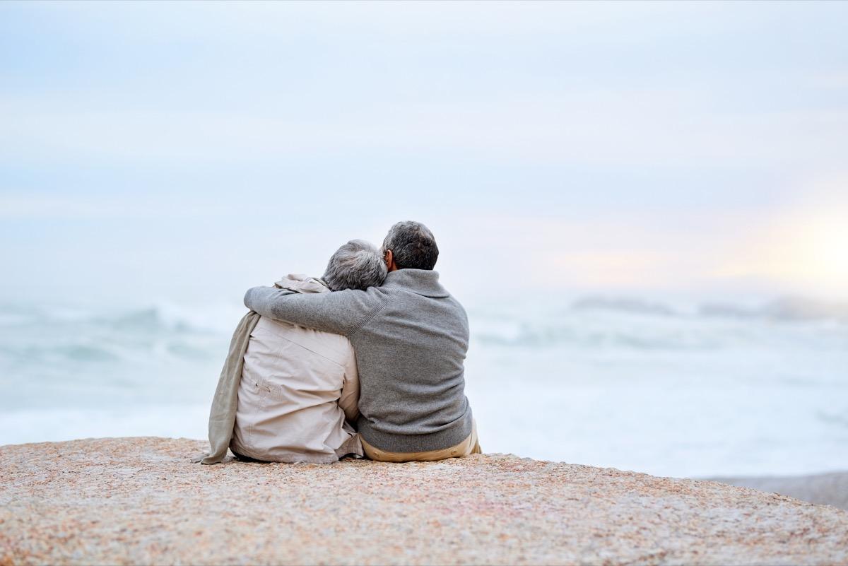 couple under blanket together