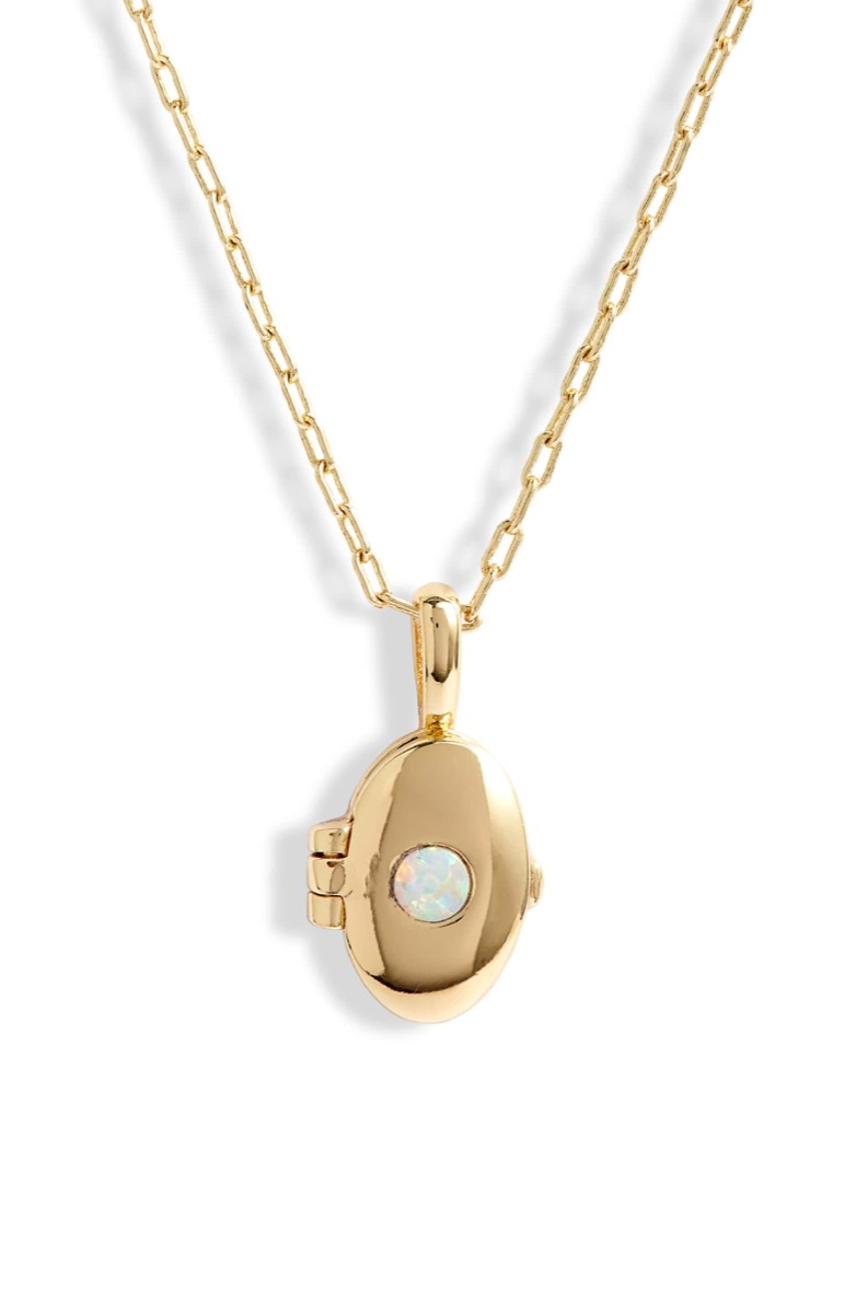 opal and gold locket, Nordstrom anniversary sale