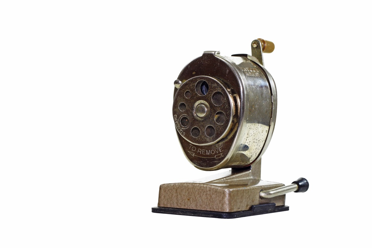 Pencil Sharpener Old Classroom Objects