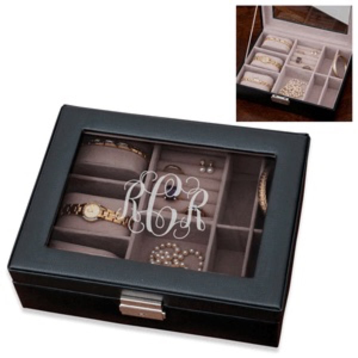 monogrammed jewelry box, best friend gifts