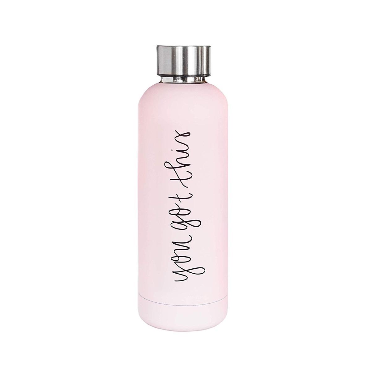 pink water bottle, cute water bottles