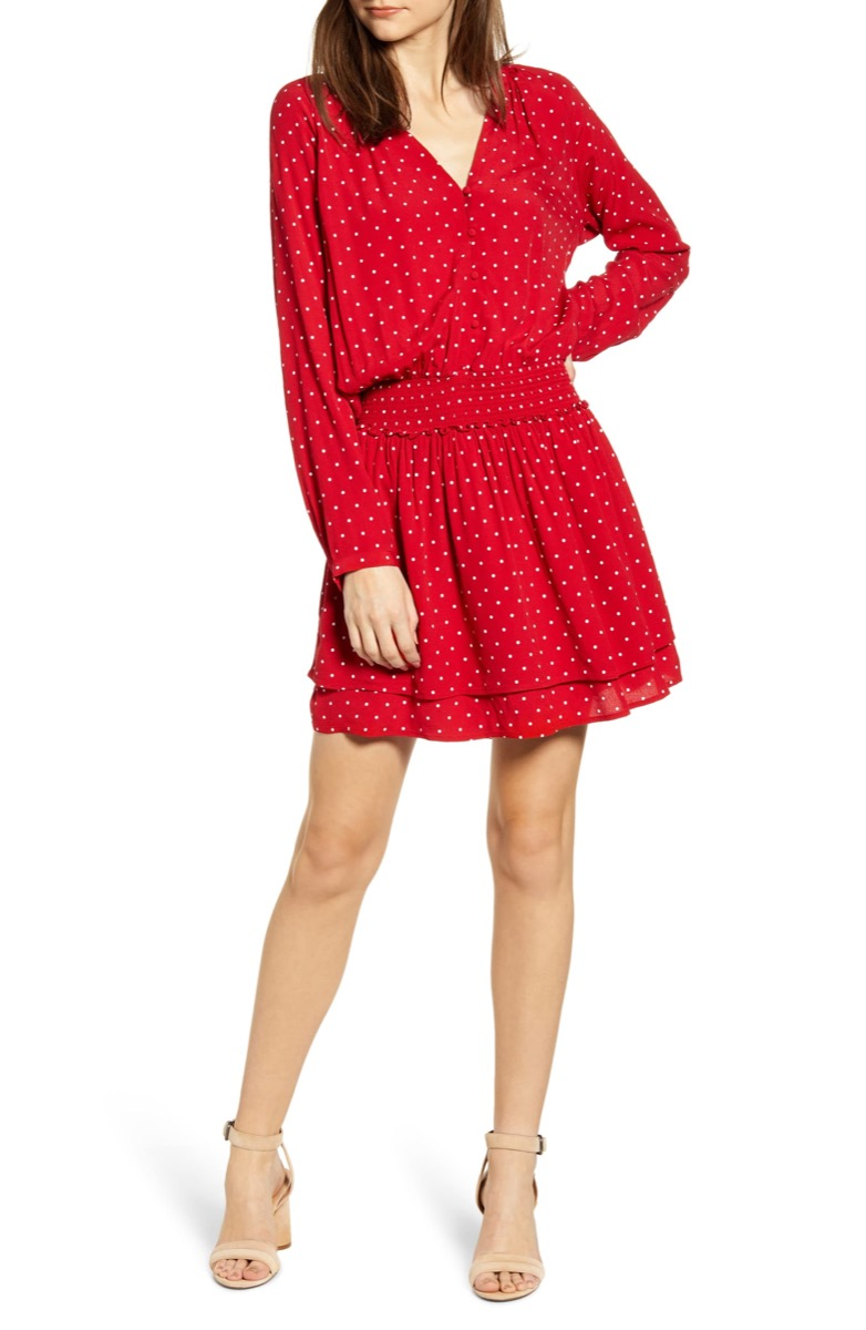 red polka dot dress, Nordstrom anniversary sale