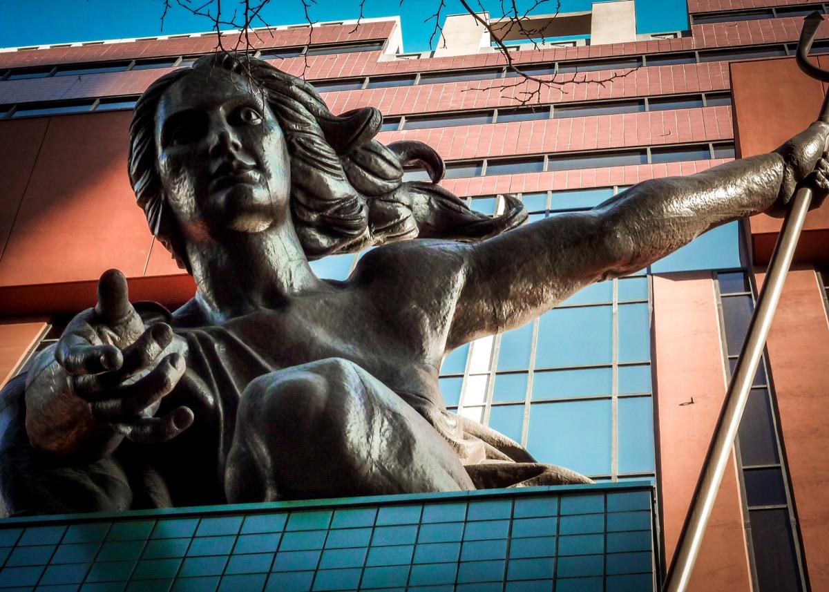 the portlandia statue in portland oregon