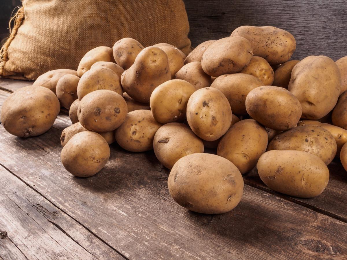bag of potatoes, state slang