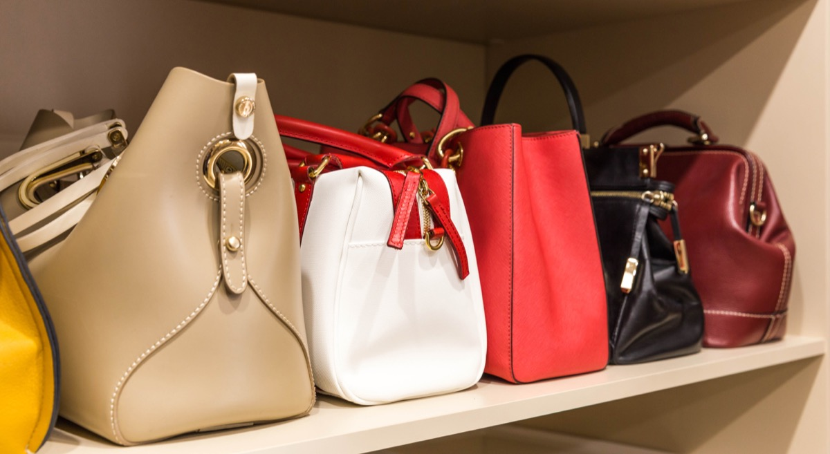 Row of Purses Sitting in a Closet Ways You Ruin Clothing