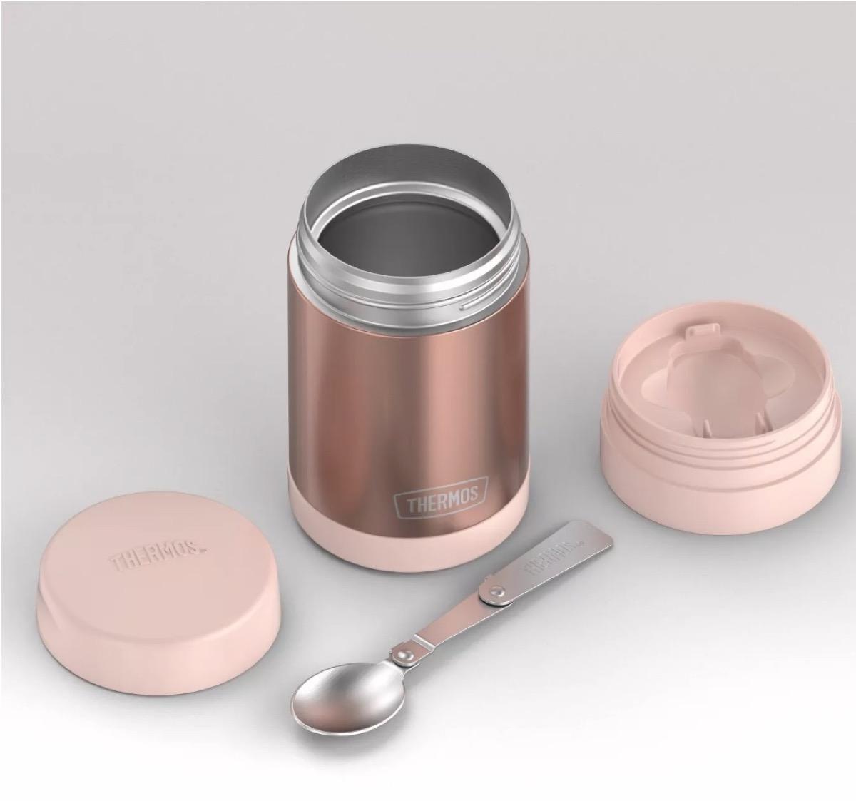 rose gold thermos, picnic essentials