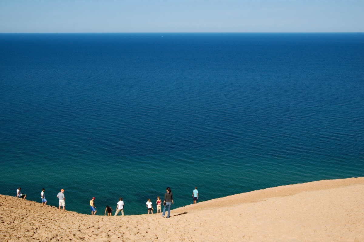Viewpoint on Pierce Stocking Scenic Drive in the Sleeping Bear Dunes National Lakeshor