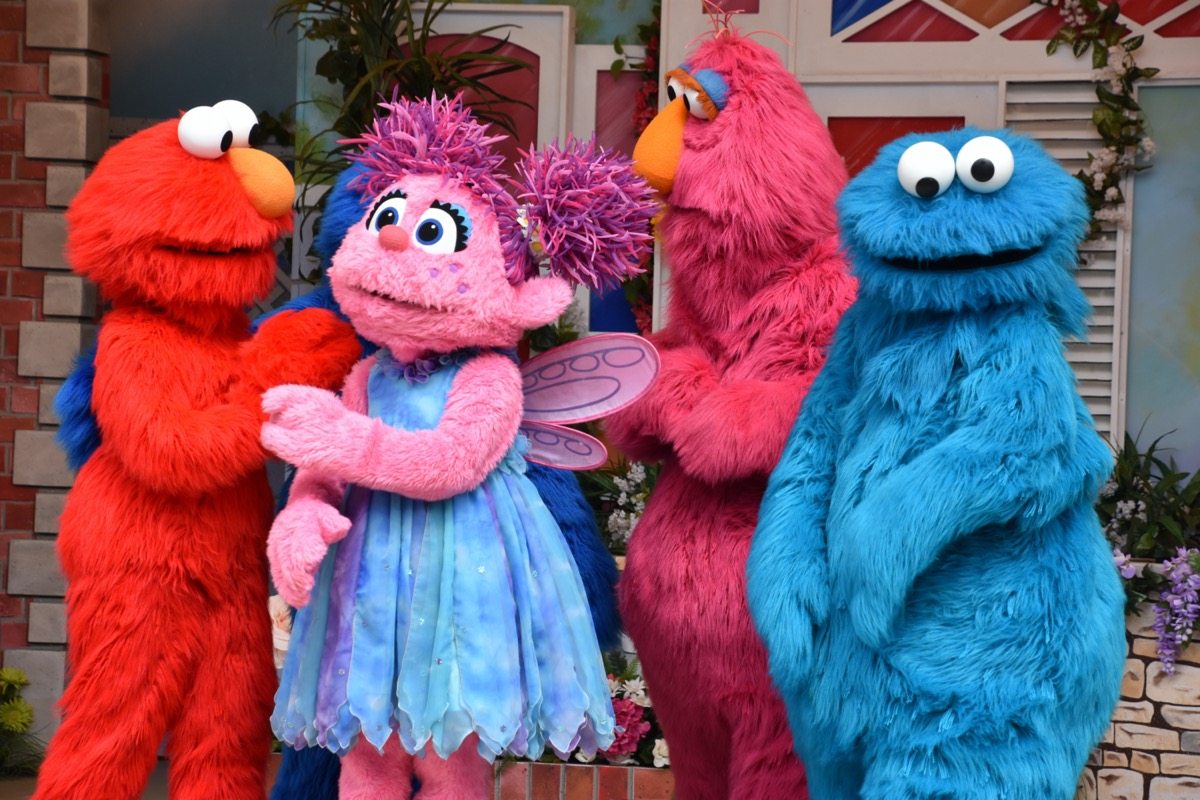 sesame street characters in costume