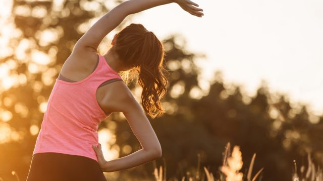 woman exercising early in the morning