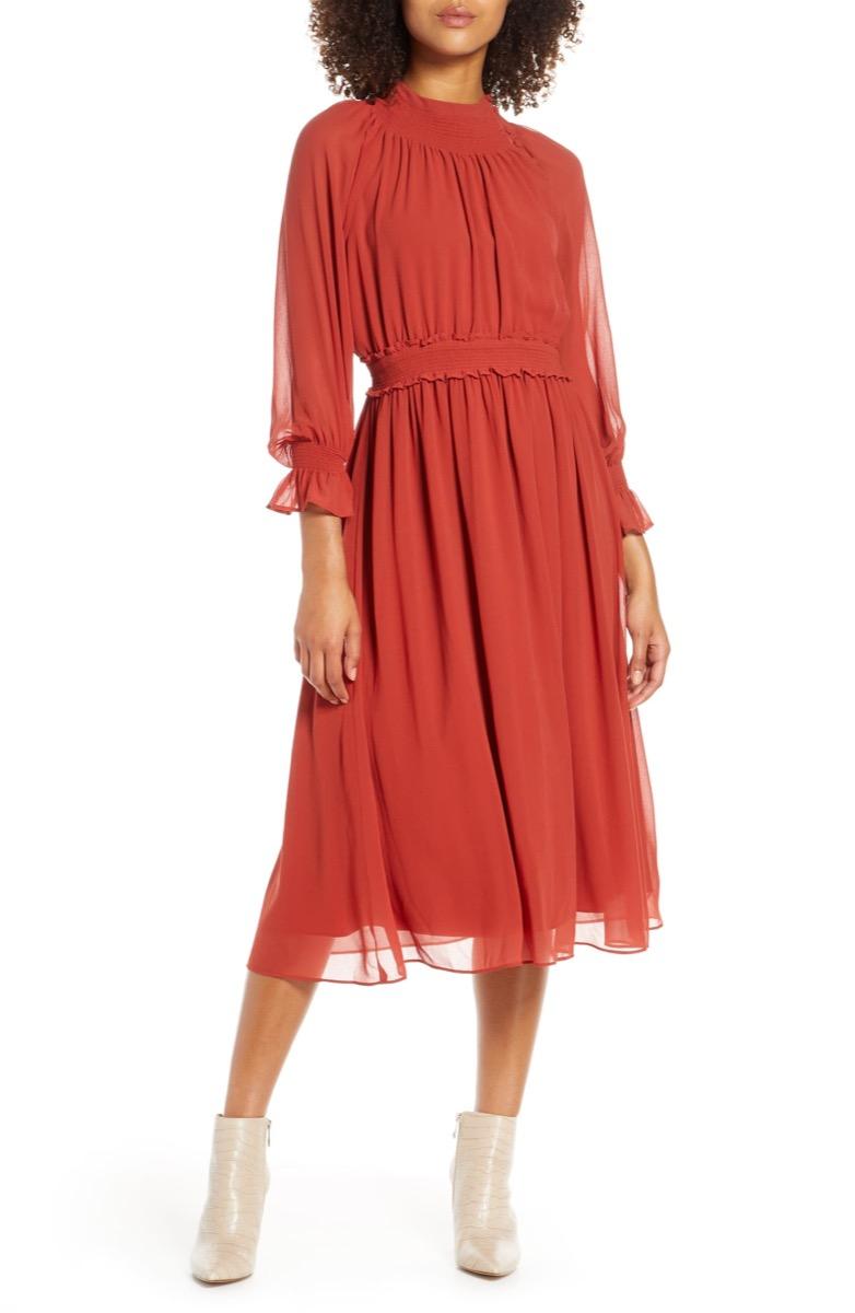 chiffon midi dress, Nordstrom anniversary sale