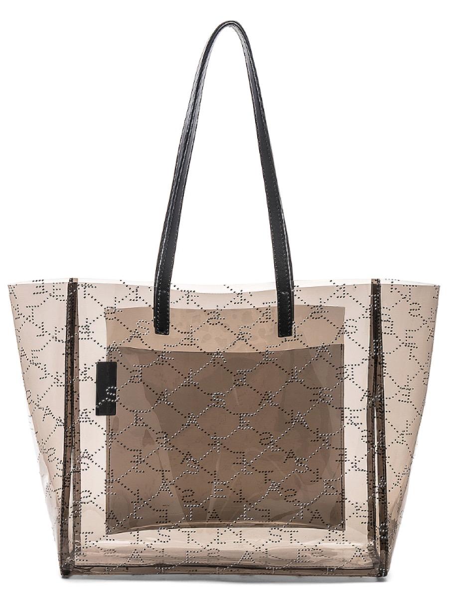 translucent tote, luxury beach bags