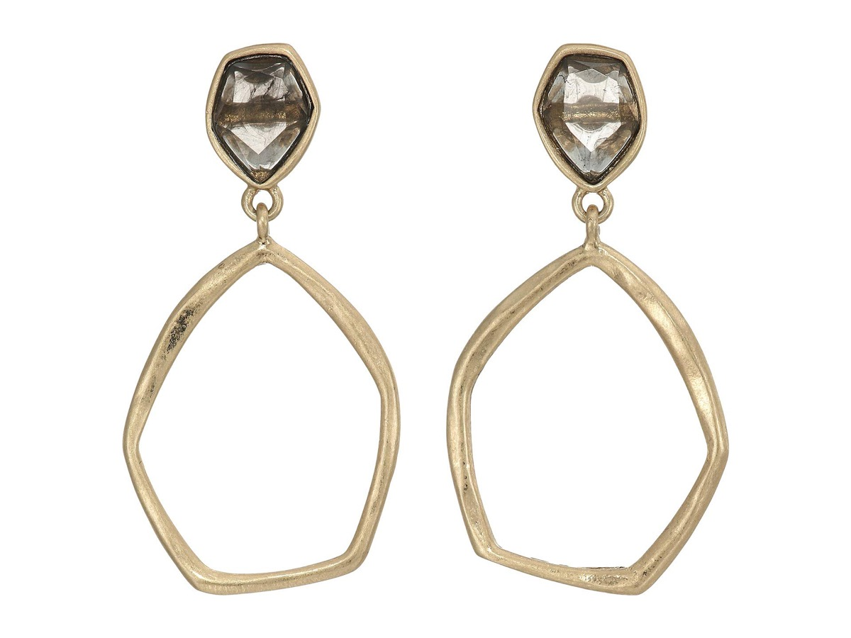 earrings with stone and gold hoops, best gifts for girlfriend