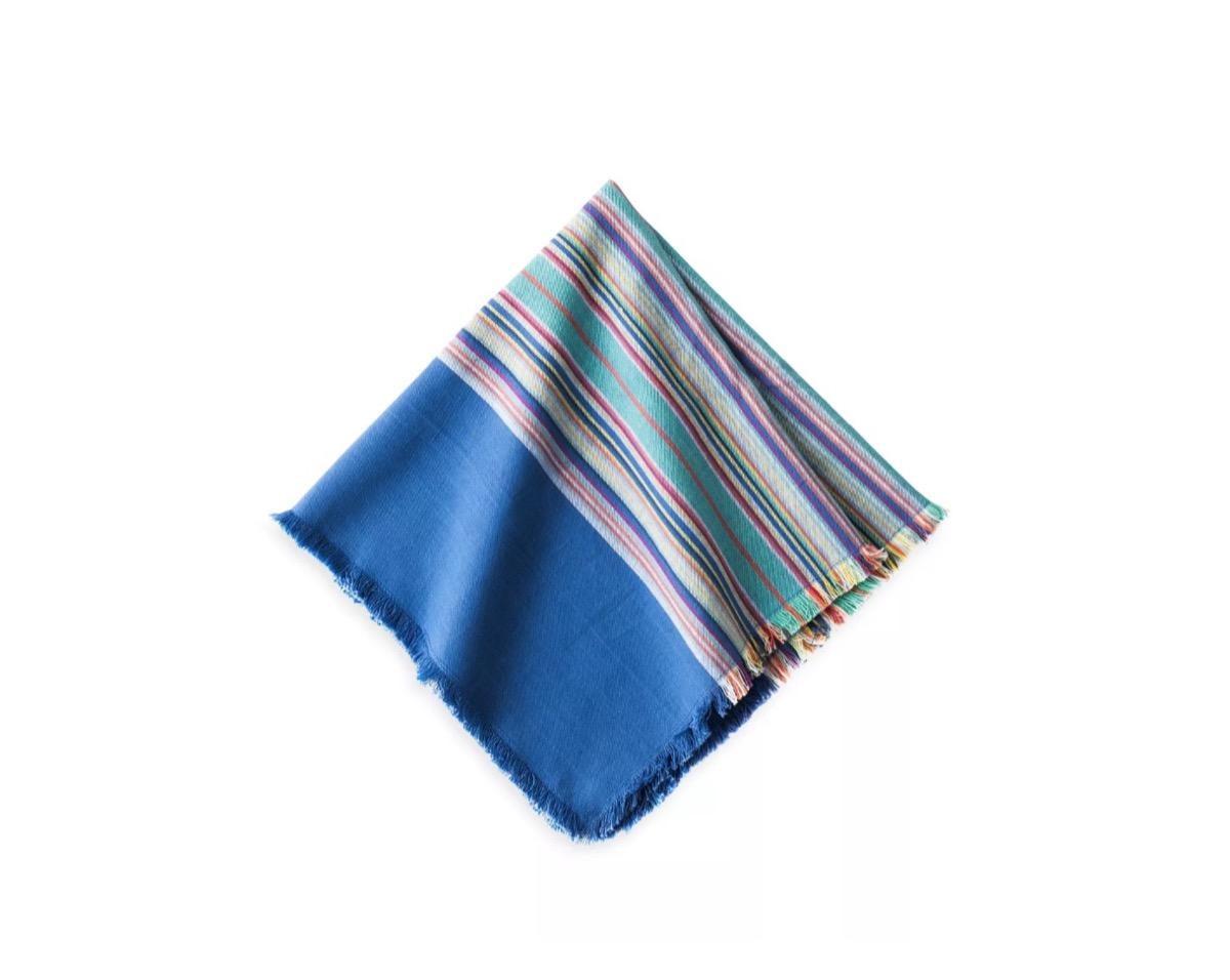 frayed edge striped napkins, picnic essentials