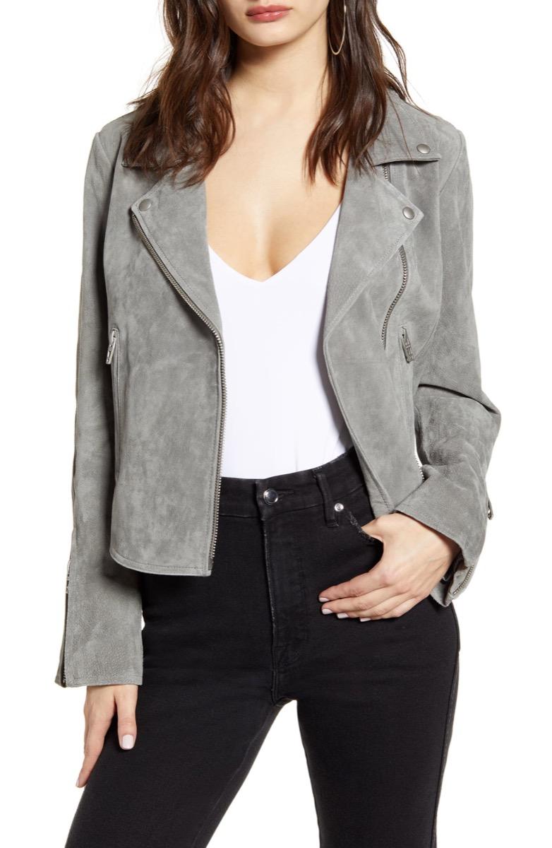 gray motorcycle jacket, Nordstrom anniversary sale