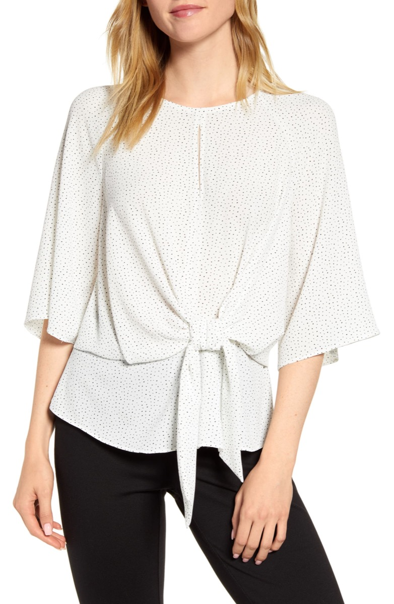 tie front white top, Nordstrom anniversary sale