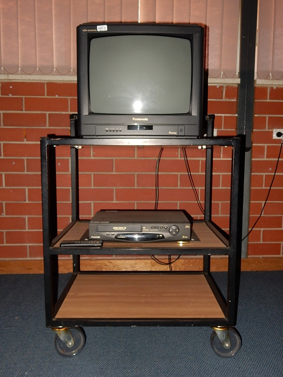 TV Cart Old Classroom Objects