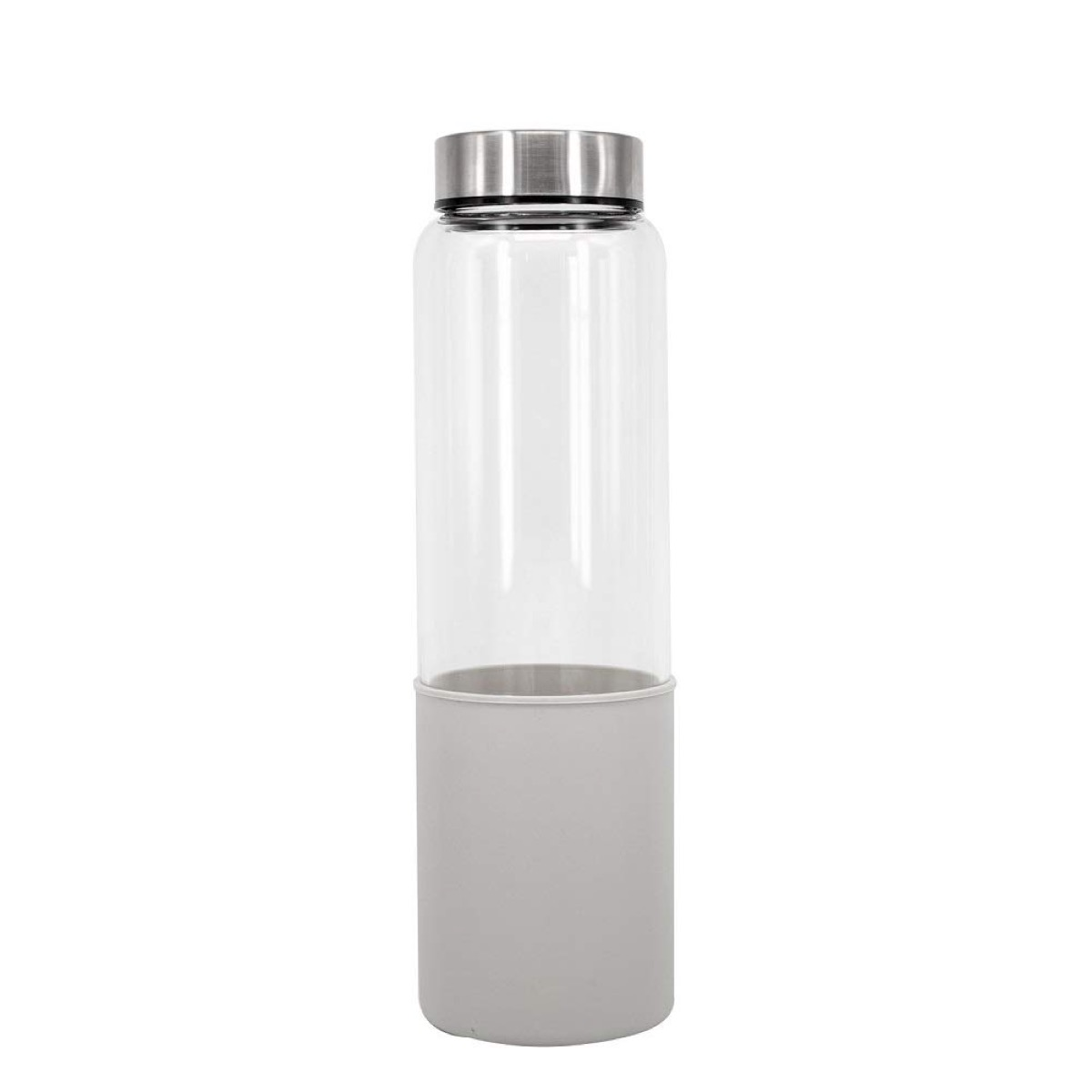gray and clear water bottle, cute water bottles