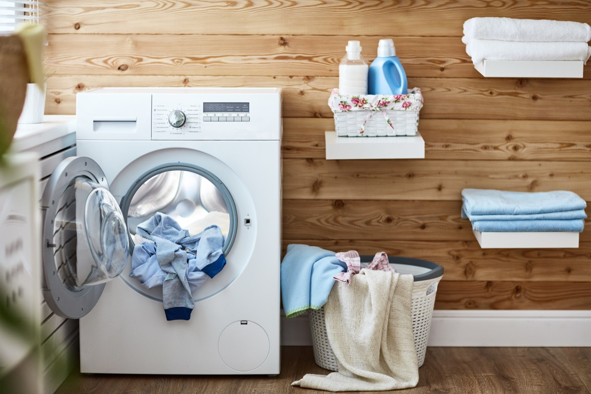 Washing Machine Room with a Dryer Ways You Ruin Clothing