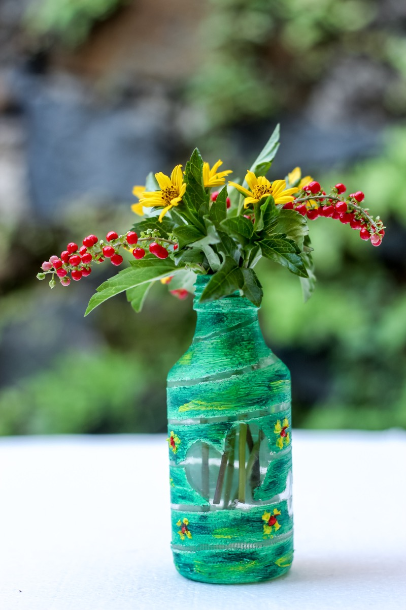 Water Bottle Vase Water Bottle Second Uses