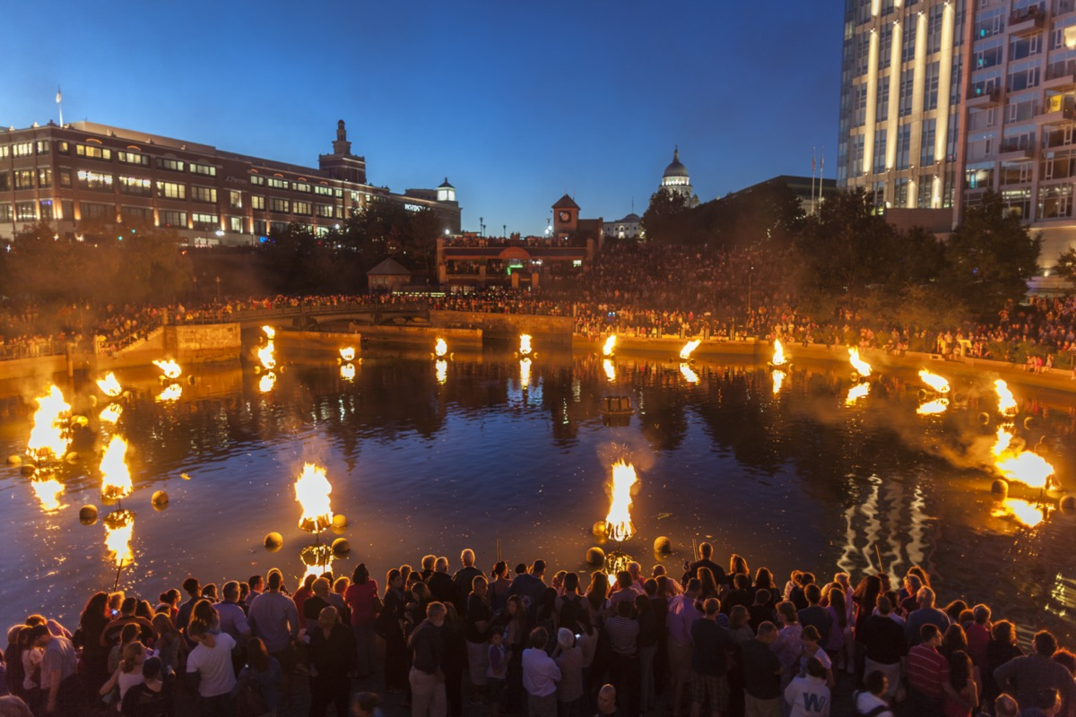 a water basin of bonfires in providence