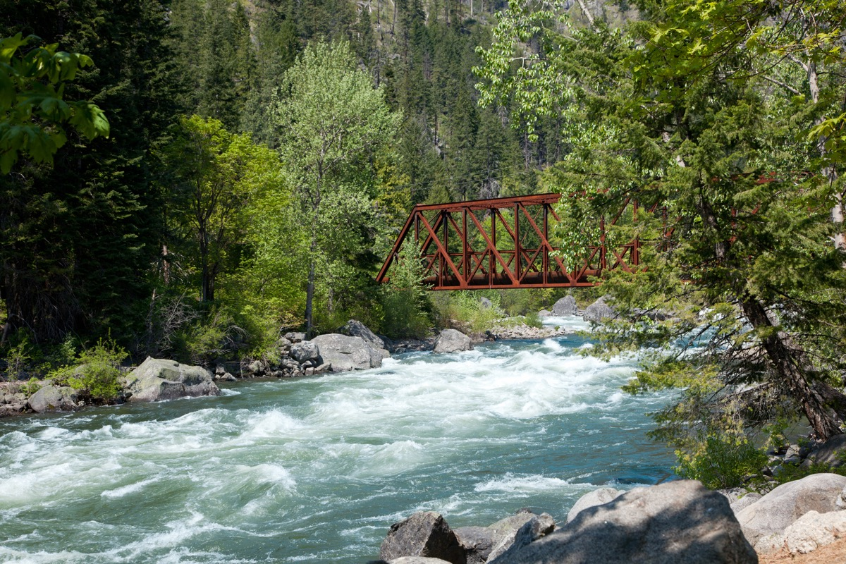 Old Tumwater Canyon Bridge crosses the Wenatchee River in Central Washington.