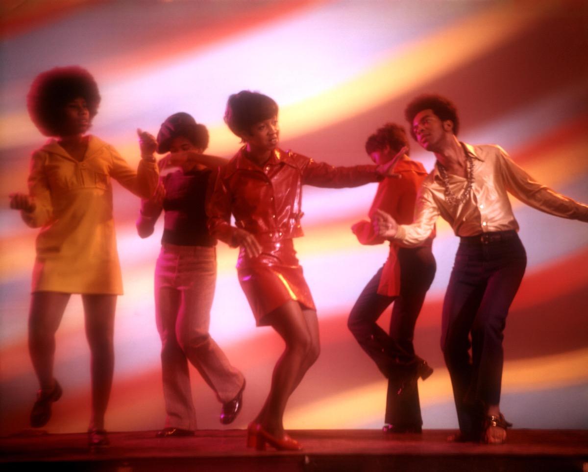 1970s AFRICAN AMERICAN BLACK DANCERS IN DISCO CLUB