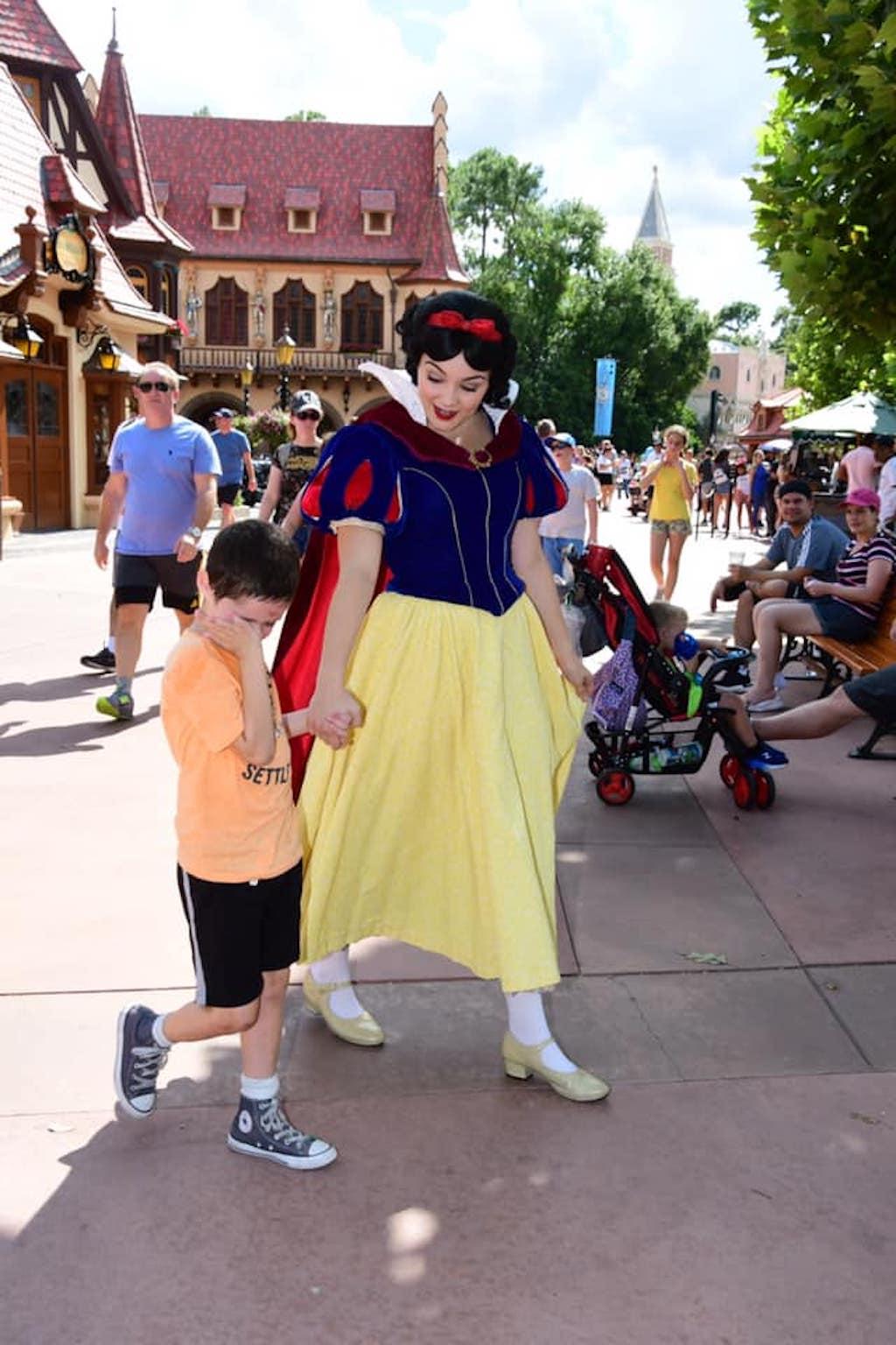 snow white child with autism