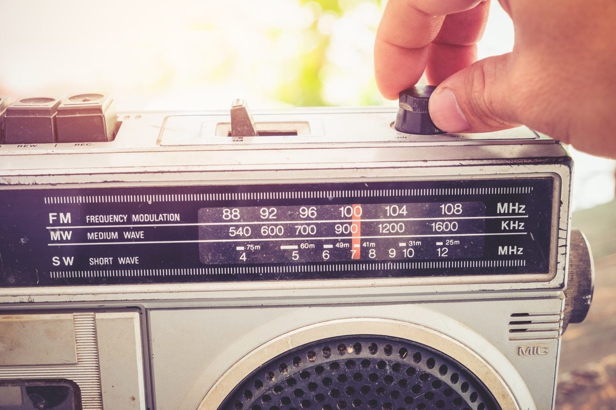 taping songs off the radio, 80's