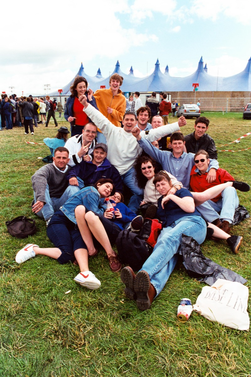 Teens at a music festival in the 1990s