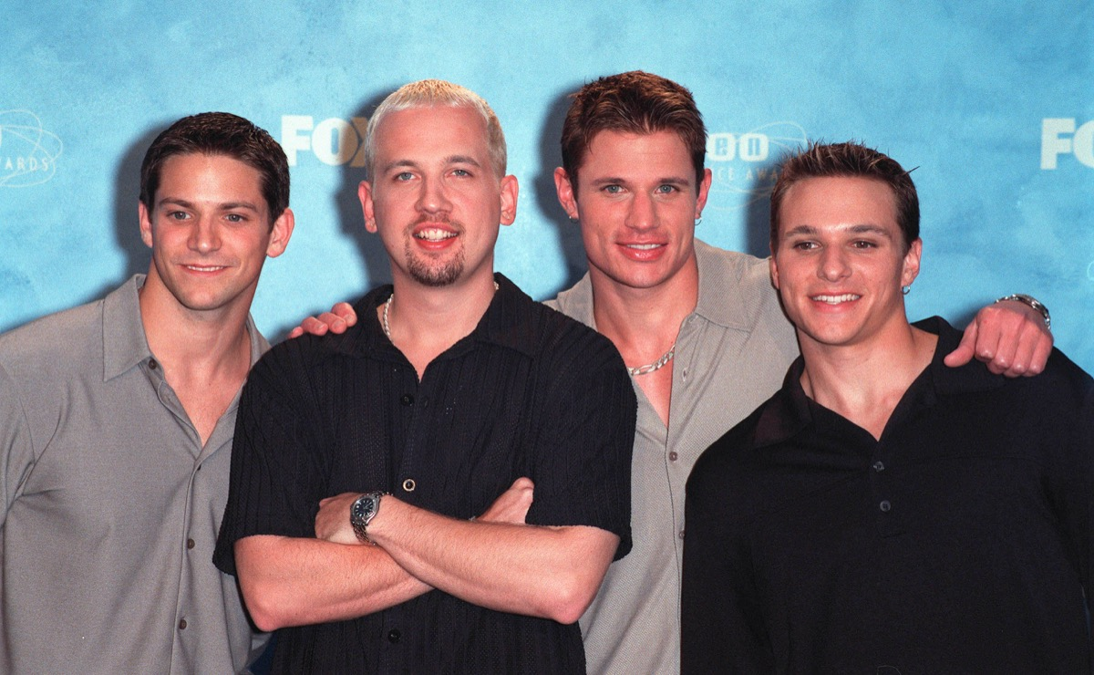 98 Degrees at the Teen Choice Awards in 1999
