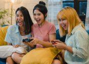 Asian Women Playing Video Games